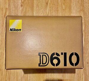 NIKON D610 DIGITAL SLR CAMERA BODY ONLY MINT CONDITION