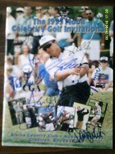 The Celebrity Golf Invitational Golf Tournament Program Hand Signed Autograph