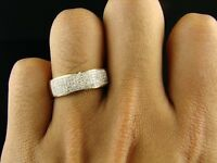 MEN's YELLOW GOLD OVER WEDDING BAND SIM.DIAMOND RING Size 7 8 9 10 11 12 13 14