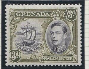 Grenada GVI 1938 6d black & olive-green p13½ x 12½ MINT sg158a
