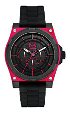 Marc Ecko Mens UNLTD The Street Multifunction Red & Black IP Watch E13558G2 NEW