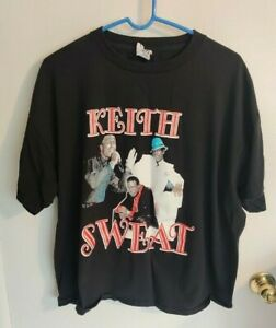 Keith Sweat Vintage 2005 Summer Sweat Tour Black T-Shirt See Description
