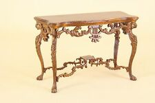 """Dollhouse Miniature """"FANTASY LYRE"""" CONSOLE TABLE  3554-NWN  BESPAQ DIRECT"""