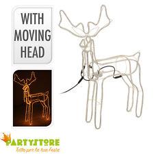renna luminosa tubo luce 90x86x16 cm movimento natale luci decorazioni natalizie