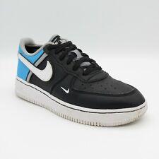 Chicos Entrenador Nike Air Force 1 LV8 Blanco Negro Azul Talla 2.5 UK 35 EU