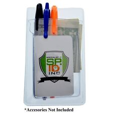 Heavy Duty Vinyl Pocket Protector with Vertical ID Badge Holder by Specialist ID