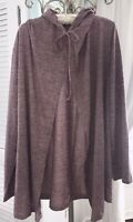 NEW Plus Size 3X Pink Mauve Open Cardigan Sweater Hood Knit Jacket Topper