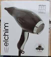 New Elchim 3900 Healthy Iconic Hair Dryer BLACK SILVER 2000-2400 Watts