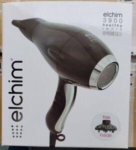 New Elchim 3900 Healthy Iconic Hair Dryer BLACK SILVER 2000-2400 Watts
