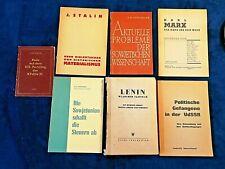 UdSSR propagandistisches,kommunistisches Literatur / Bücher / Manifest  7Stück