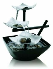 Silver Springs Relaxation Fountain Waterfall Illuminated Zen - Soothing Sounds