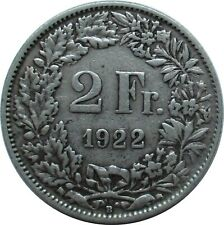 Schweiz 2 Franken 1922 B , Stehende Helvetia
