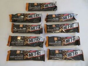 (9) MET-Rx Big 100 Meal Replacement Bars Chocolate Chip Cookie 3.52 Oz Each @6