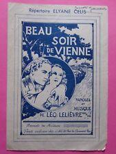 #) partition BEAU SOIR DE VIENNE Elyane Celis - chant et accordéon