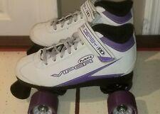 ROLLER DERBY Skates, Viper M4, Speed Quad Skate Size 5 Womens Purple & White