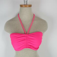Op Junior Size M Hot Pink Swimsuit Swimwear Bikini Top Bandeau Sexy Ties String