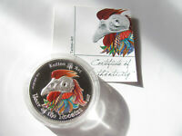 "Ghana 2017 5 Cedis 1 oz Silber Ag .999 ""Tattoo Art - Year of the Rooster"" Proof"