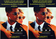 WILL SMITH MARGOT ROBBIE - FOCUS FILM MOVIE FLYERS X 2