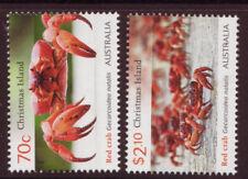 Timbres d'Australie et d'Océanie rouge