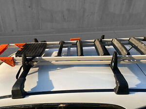 Roof Rack and Load Stops Ladder Tilt For Fiat 500X 2015- Up Black