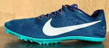 Mens Nike Zoom Victory 3 Racing Mens Track Spikes Size 8 Navy Blue/Teal/White