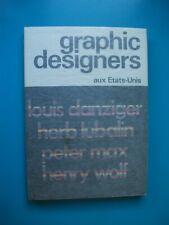 Graphic designers aux Etats-Unis. Tome I. OFFICE DU LIVRE 1971
