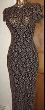 WALLIS ❤️ SEXY GOLD & BLACK WIGGLE LACE LONG PARTY BALL DRESS SIZE 14