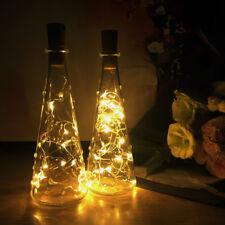 2M 20 LEDs Weinflasche Kork Lichter LED Flaschenlichter Lichterketten String WW