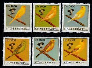 SÃO TOME & PRINCIPE Canaries MNH set
