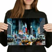 A4 - Times Square New York City Poster 29.7X21cm280gsm #2217