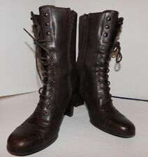 """Women's White Mountain Size 8 M  Brown Ankle, Lace Up Boots 3"""" Stacked Heel"""