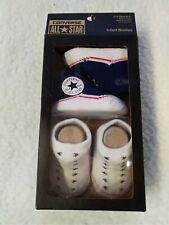 CONVERSE Infant Crib Shoes Boy Girl Booties Baby Newborn Socks Soft 0-6 Months