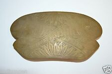 WOW Vintage 1980s Large Brass Indian FISH Etched BOHO Women's Belt Buckle Rare