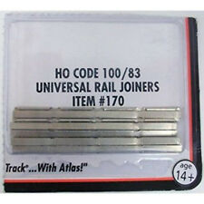 Atlas 170 HO Scale Code 100 Rail Joiners Nickel / Silver (48)