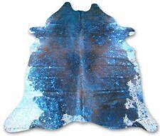 Turquoise Metallic Cowhide Rug Size: 8' X 6.7' *HUGE* Turquoise Metallic C-364