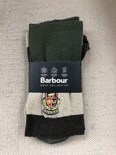 BARBOUR BAYBRIDGE MENS STRIPE SOCKS OLIVE GREEN