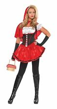 Ladies Red Riding Hood Costume Fairytale Womens Fancy Dress Sexy 14-16
