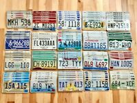 Bulk Set of 100 License Plates- 20 Versions, 5 of Each in Craft Condition
