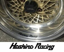 HOSHINO RACING IMPUL Wheel rim decals x4, jdm ,drift, AE86,various colours