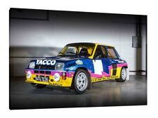 Yacco Renault 5 GT Turbo - 30x20 Inch Canvas - Framed Picture Print Wall Art