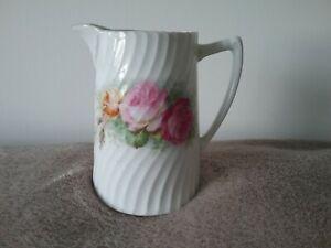 Vintage Antique Jug Creamer pourer Roses Marking 966 or 669