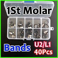 40 Pcs Dental Bondable Rorh 34-38+ Orthodontic Buccal Tube Bands Band Molar PII