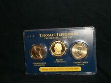 2007 Presidential gold dollar coin set Thomas Jefferson (S proof) (D P uncir)