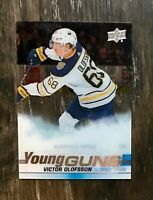 2019-20 UD Young Guns Acetate Clear Cut Victor Olofsson -Buffalo Sabres RC
