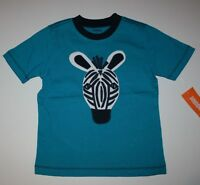 New Gymboree Bright Blue Jungle Tour Zebra Tee Shirt Top NWT 12-18M 2T 4T 5T Boy