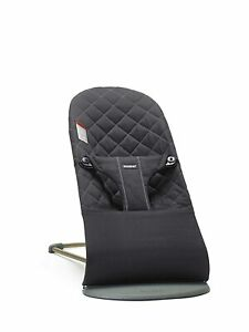 BabyBjörn Bouncer Bliss, Cotton, 0 to 24 Months, Black (006016US)