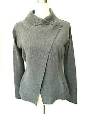 Ivan Grundahl Sz S Ash Gray 100% Merino Open Front Cardigan in Perfect Condition