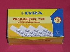 12 craies blanches pour tableau (craie carrée de 1,2cm de côté) marque:Lyra