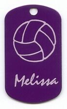 Personalized Volleyball Bag Tag, Dog Tag, ID /Sprit Tag