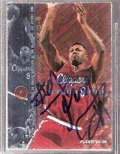 Autographed 1995-96 Tony Massenburg Los Angeles LA Clippers